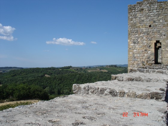 Photo:モンテリッジョーニの城壁から