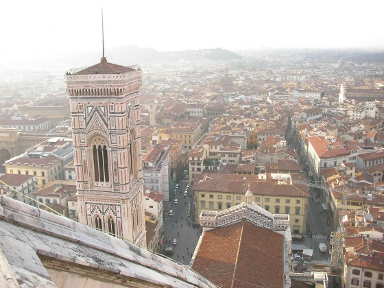 Photo:ドゥオモからのフィレンツェの街