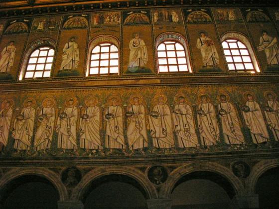 Photo:サンタポリナーレ・ヌオヴォ教会のモザイク